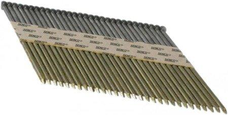 Gwoździe taśmowe łączone papierem 34°/ ø 3,1mm/ryflowane/czarne
