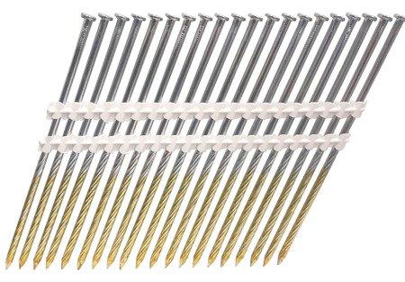 Gwoździe taśmowe łączone plastikiem 21°  3,8/130mm/ryflowane/czarne